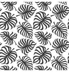 Seamless pattern with tropic leaves of monstera vector