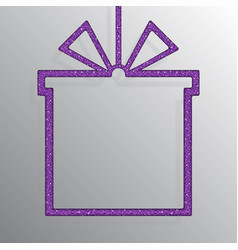 Shopping box banner of purple sequins background vector