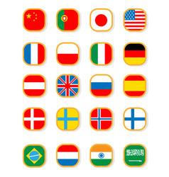 speaking flag icon set vector image