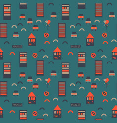 Street seamless pattern vector