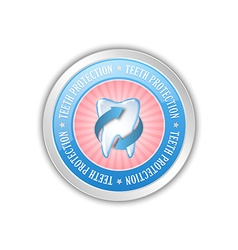 Teeth protection badge vector