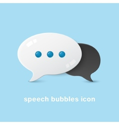 Two volume bubble clouds vector image