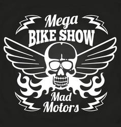 Vintage motorbike show emblem vector