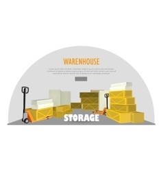 Warehouse Storage Web Banner Advertisement vector image
