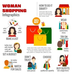 Woman shopping infographic vector