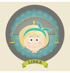 Zodiac signs collection Cute horoscope - LIBRA vector