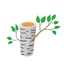 Birch icon cartoon style vector image vector image