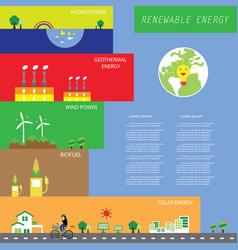 info chart renewable energy biogreen ecology vector image