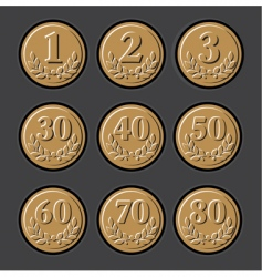 jubilee medal vector image vector image