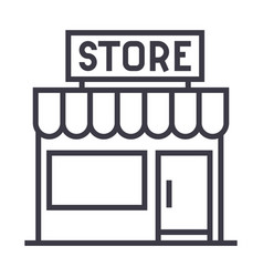 store sign line icon sign on vector image