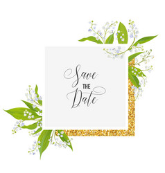 wedding invitation anniversary party rsvp floral vector image vector image