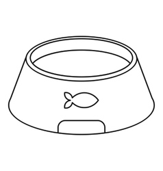 Bowl for animal icon outline style vector
