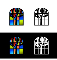 Mosaic Glass Window vector image vector image