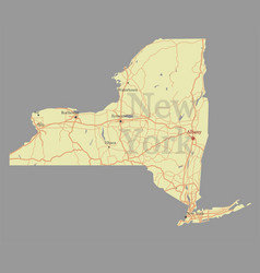 new york city accurate exact detailed state map vector image