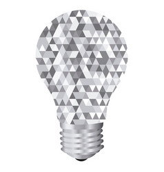 background with light bulb and abstract glass vector image vector image