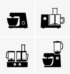 food processors vector image