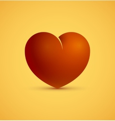 Icon of red heart vector image