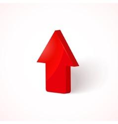 red upload arrow vector image vector image