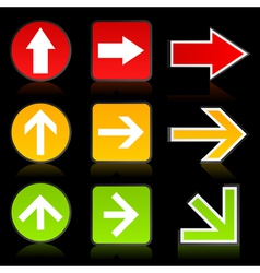 arrow of a traffic light vector image vector image