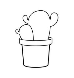 cactus in a pot icon vector image