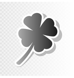 leaf clover sign new year blackish icon vector image vector image