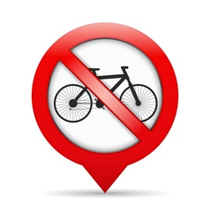 No Bicycle Sign vector image