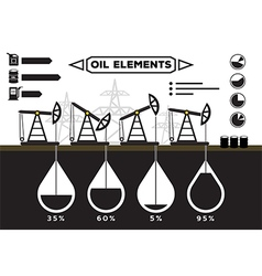 Oil field infographics vector image