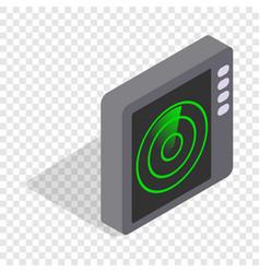 radar screen isometric icon vector image