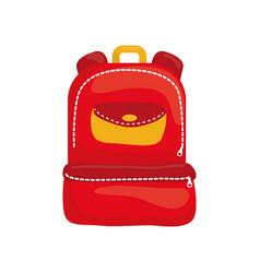 school backpack isolated vector image
