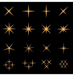 Sparkles icon set vector image