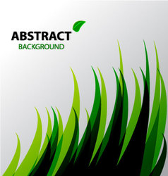 Abstract green grass background vector