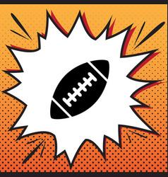 American simple football ball comics vector