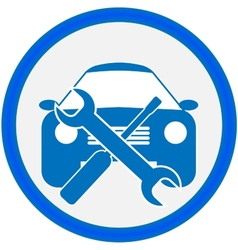 Auto repair shop sign vector image