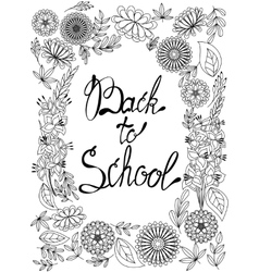 Back to school background black and white vector