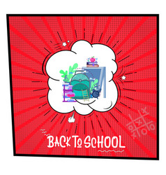 back to school - banner concept big school vector image