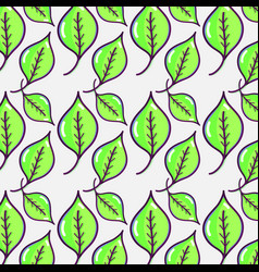 beautiful and natural leaves of plants background vector image vector image