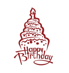 Birthday cake image vector