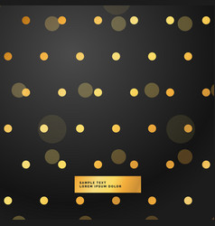 Black background with golden polka dots vector