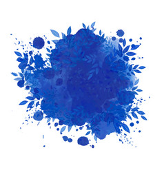 blue background with leaves vector image