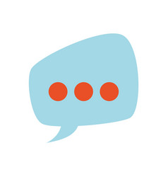 Bubble chat speakbox vector