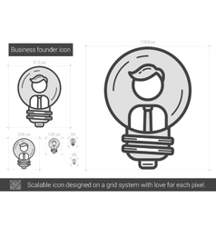 Business founder line icon vector image