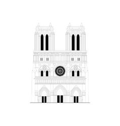 Cathedral Notre-Dame de Paris in France - 1 vector