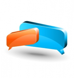 chat box orange and blue vector image