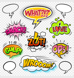 comic sounds set-6 vector image