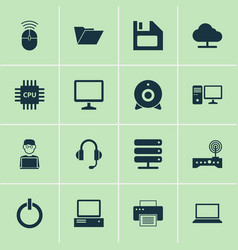 Device icons set collection of personal computer vector