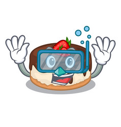 Diving cake berries in character that fresh vector