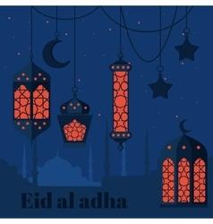 Eid al adha muslim feast sacrifice arabian vector