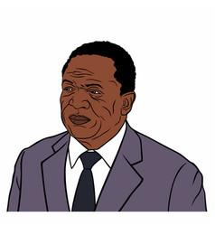 emmerson mnangagwa the president of zimbabwe vector image