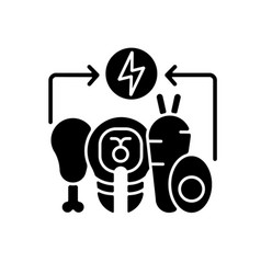 Energy value black glyph icon vector