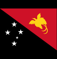 flag of papua new guinea official colors and vector image